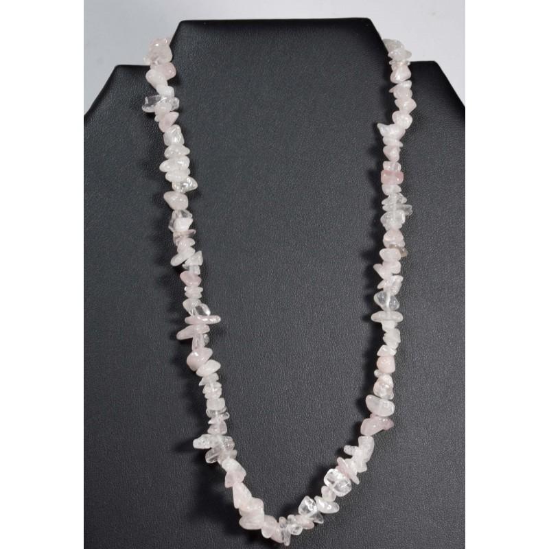 Collier baroque quartz rose