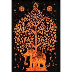Tenture éléphant et arbre...